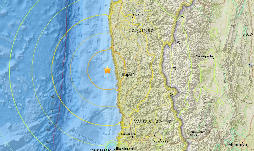 Chile Earthquake Today 2015: 6.0 Terremoto Strikes Ovalle