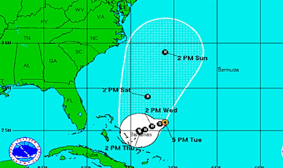 Hurricane Joaquin Projected Path Revealed by National Hurricane Center