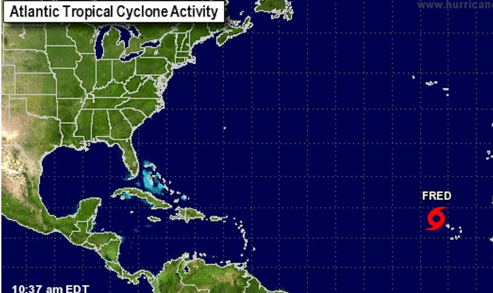 Hurricane Fred Projected Path Weakens to Tropical Storm