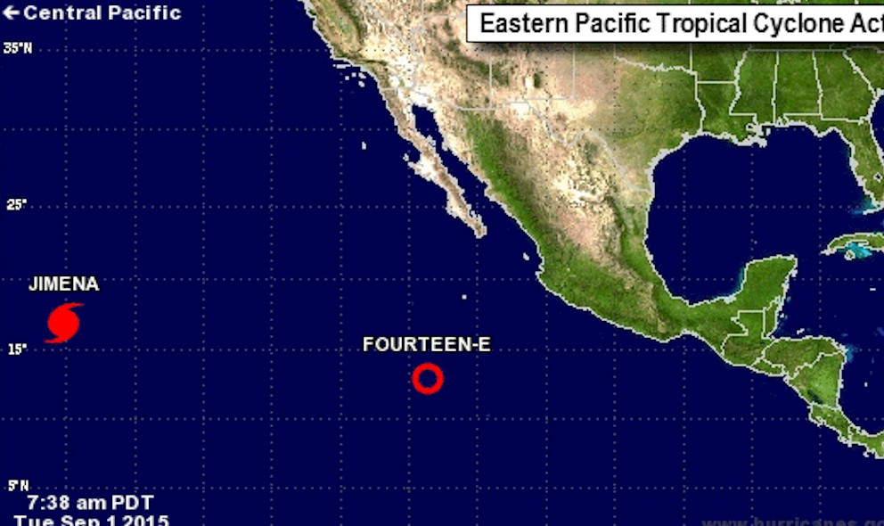 Tropical Storm Kevin Projected Path Predicted by National Hurricane Center