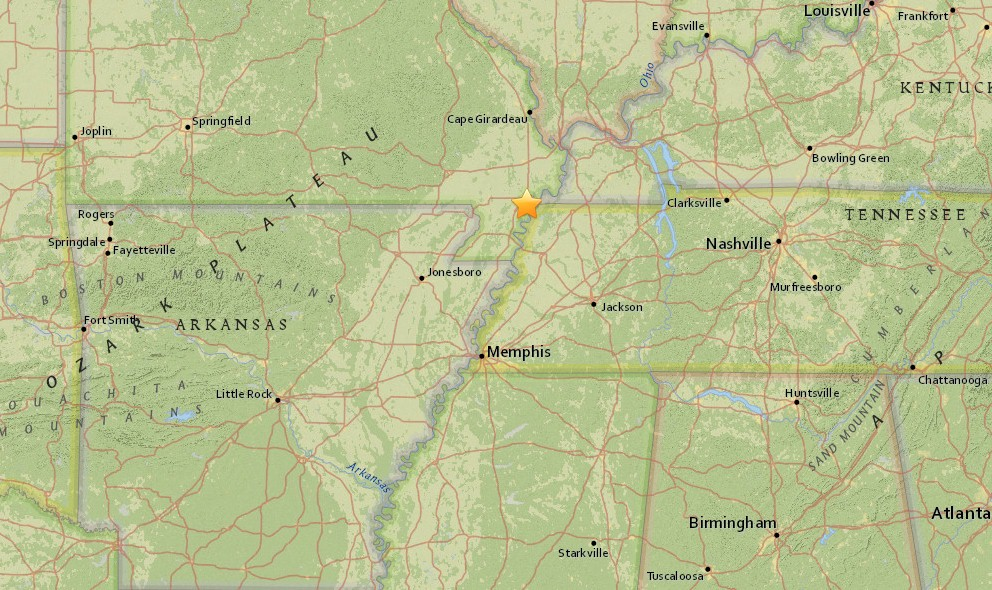 Missouri Earthquake Today 2015 Strikes New Madrid Fault