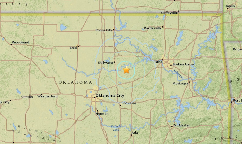 Oklahoma Earthquake 2015 Today Strikes Oklahoma City