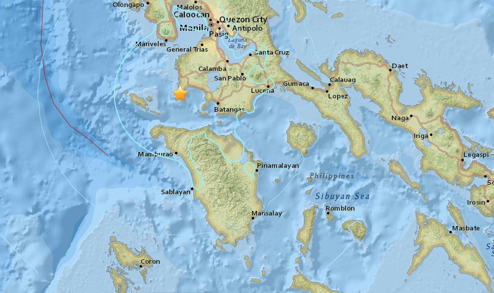 Philippines Earthquake Today 2015 in Balitoc Strikes SW of Manila