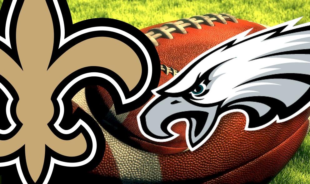 Saints vs Eagles 2015 Score Tied Before Halftime
