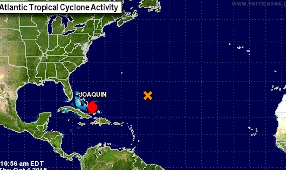 Hurricane Joaquin Projected Path: Category 3 Updated, Hurricane Center