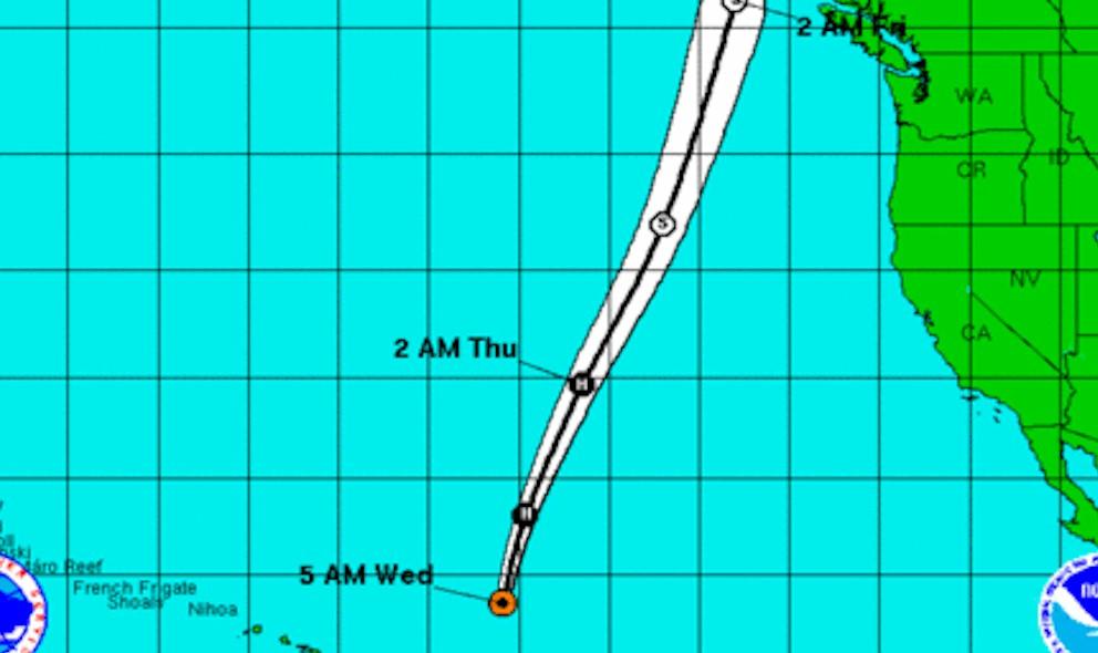 Hurricane Oho Projected Path Strikes Alaska, Canada