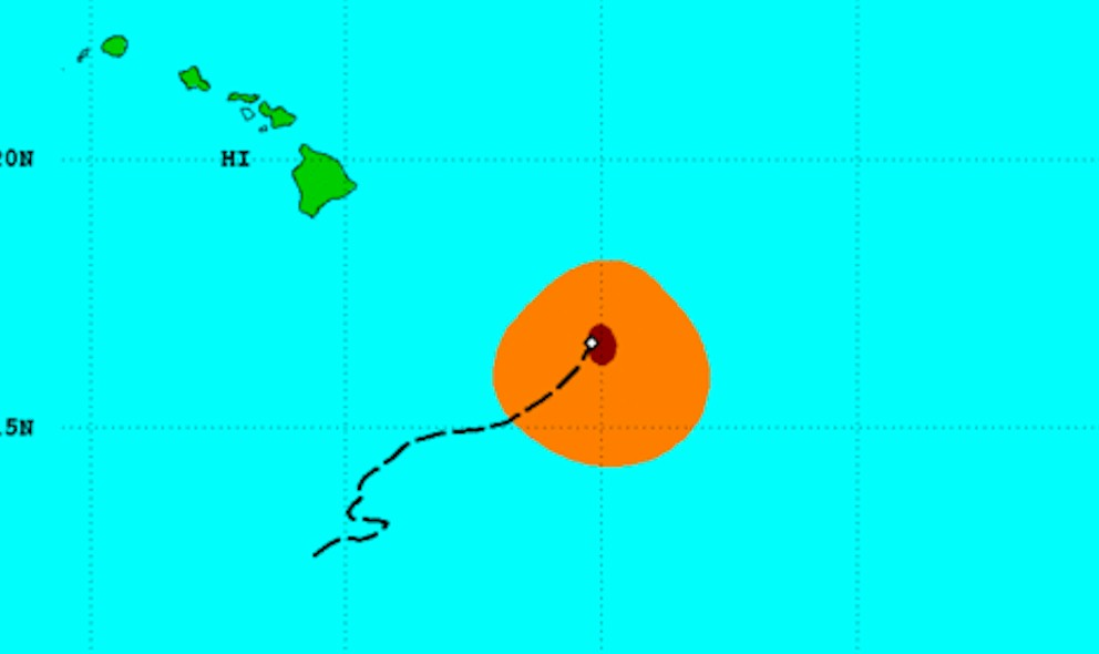 Hurricane Oho Projected Path Misses Hawaii: Center Pacific Center