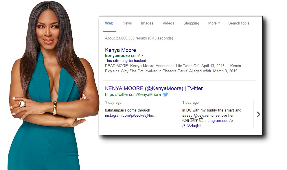 Kenya Moore Business Suffers Security Breach? EXCLUSIVE