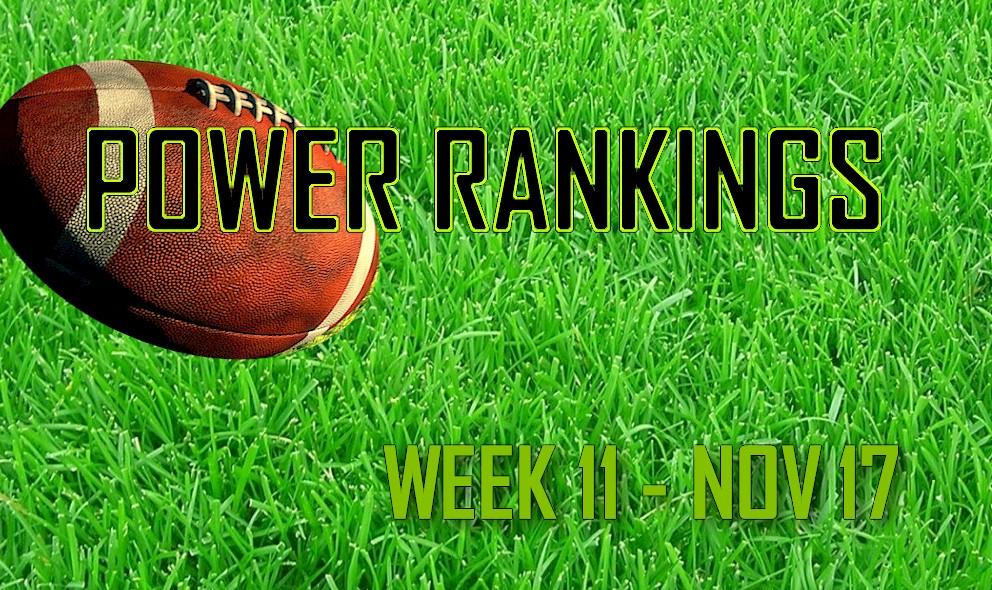 ESPN Power Rankings NFL Football: Week 11 Standings 11/17 Today Revealed