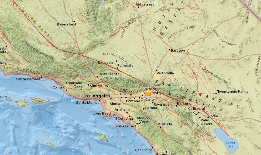 Southern California Earthquake Today 2015 Strikes Fontana