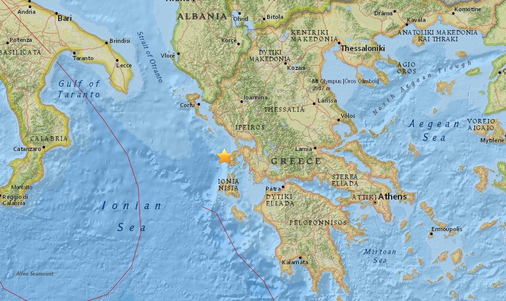 Greece Earthquake 2015 Today Strikes East of Albania