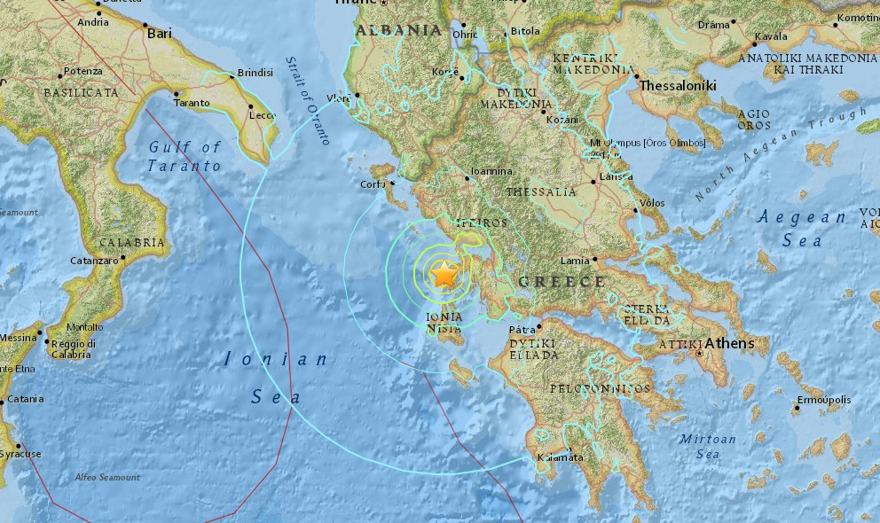 Greece Earthquake Today 2015 Strikes Near Nidri