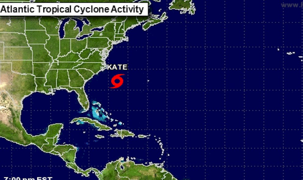 Hurricane Kate Projected Path Anticipated by National Hurricane Center