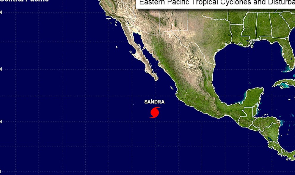 Hurricane Sandra Sinaloa, Mexico Projected Path Updated, NHC