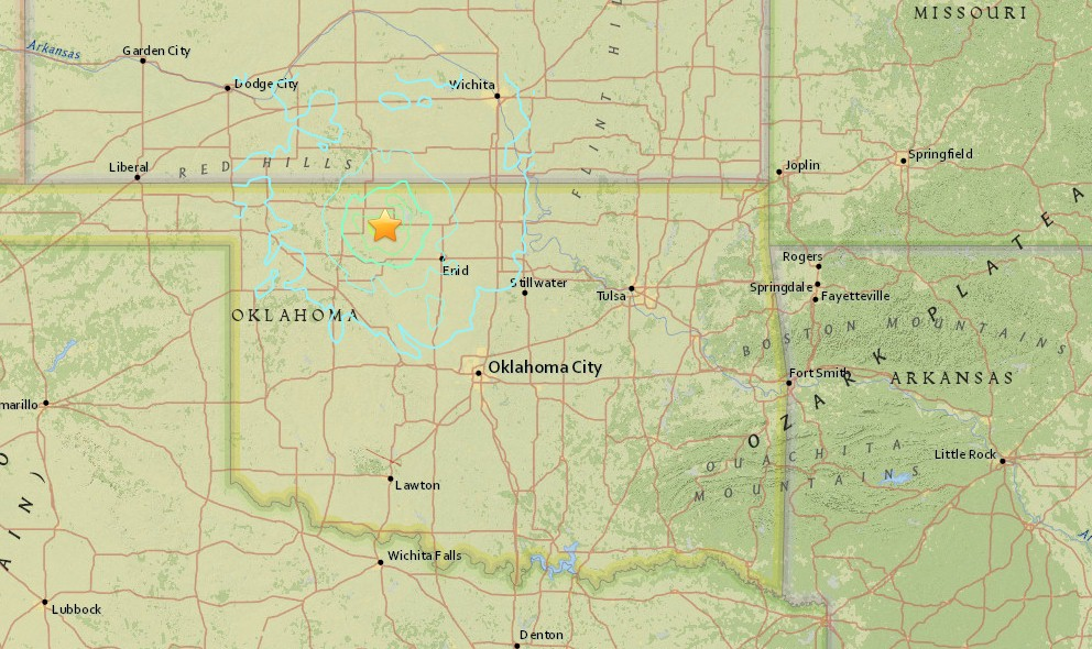 Oklahoma Earthquake Today 2015 Felt in Kansas, Missouri