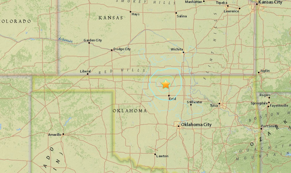 Oklahoma Earthquake Today 2015 Strikes Arkansas, Kansas