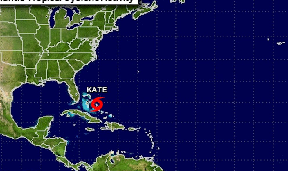 Tropical Storm Kate: National Hurricane Center Updates Projected Path
