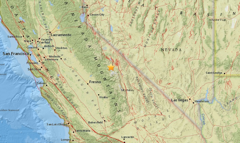 California Earthquake Today 2015 Strikes W Bishop on Christmas