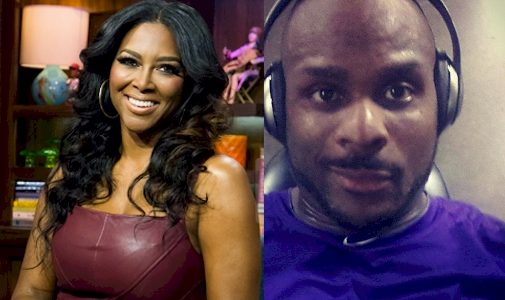 Kenya Moore New Boyfriend 2015 Matt Jordan Bored at RHOA Party: EXCLUSIVE