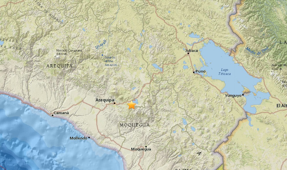 Peru Earthquake Today 2015: Terremoto Strikes Mollendo