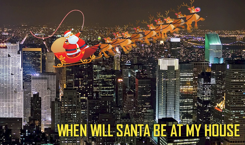 What Time Will Santa Be at My House 2015? Santa Tracker Preps Christmas