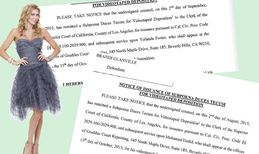 Yolanda Foster, Mohammed Hadid Divorce: Depo Ignites Brandi's Suit: EXCLUSIVE