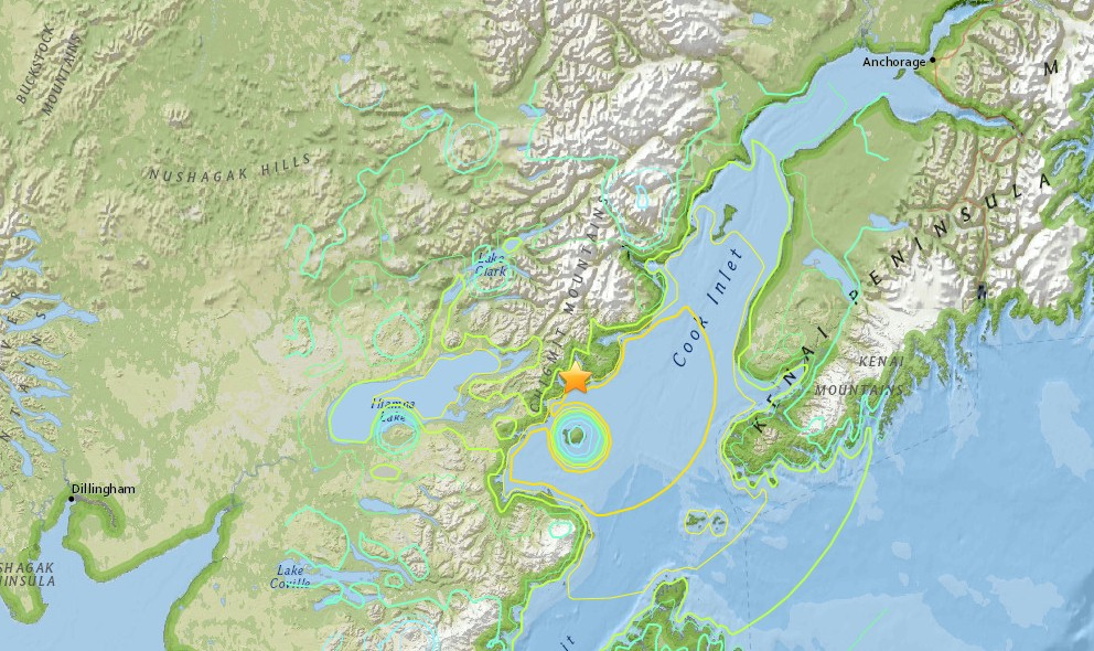 Alaska Earthquake 2016 Today Strikes West of Anchorage