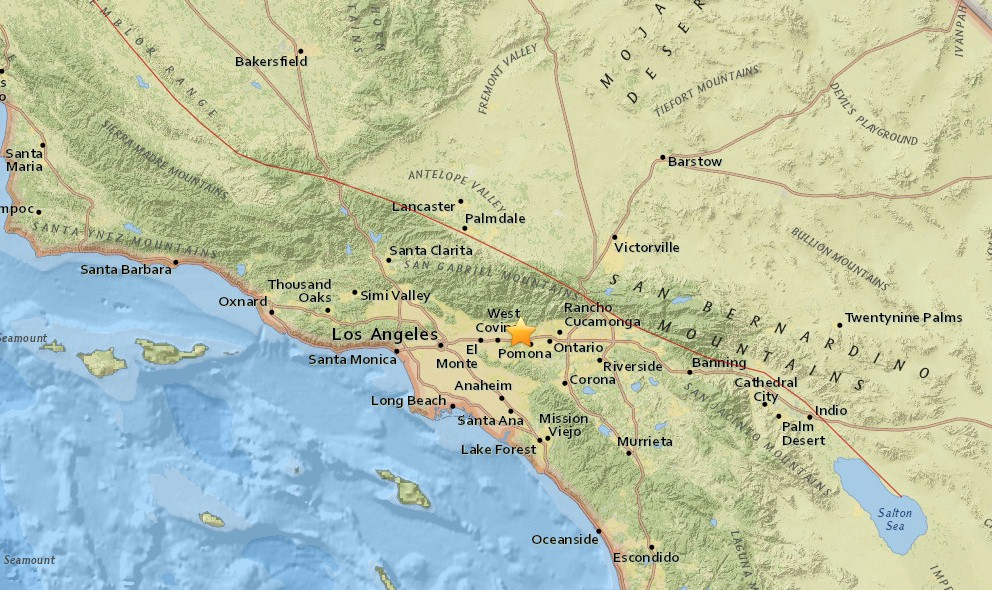 Southern California Earthquake Today 2016 Strikes San Dimas