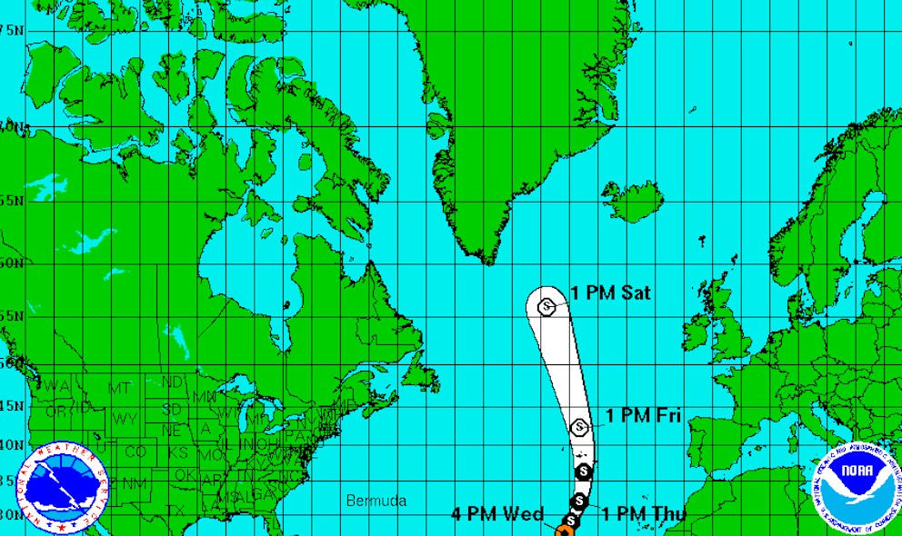 Extratopical Cyclone Alex 2016 Projected Path: National Hurricane Center