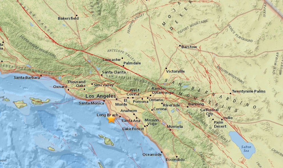 Los Angeles Earthquake 2016 Today Strikes Rolling Hills, San Pedro
