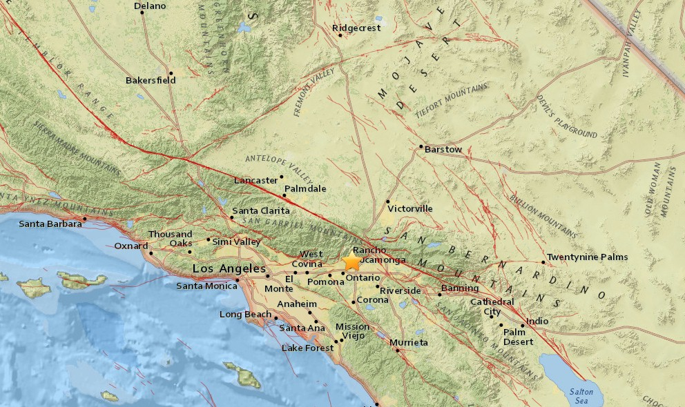 Los Angeles Earthquake 2016 Today Strikes Southern California