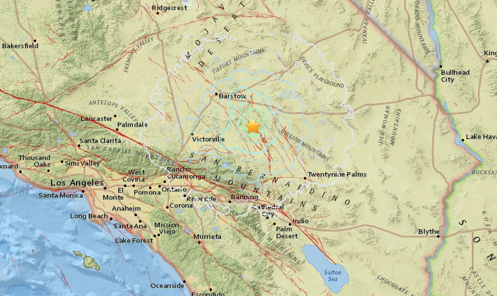 Los Angeles Earthquake 2016: So California Quake, Lucerne Valley, CA