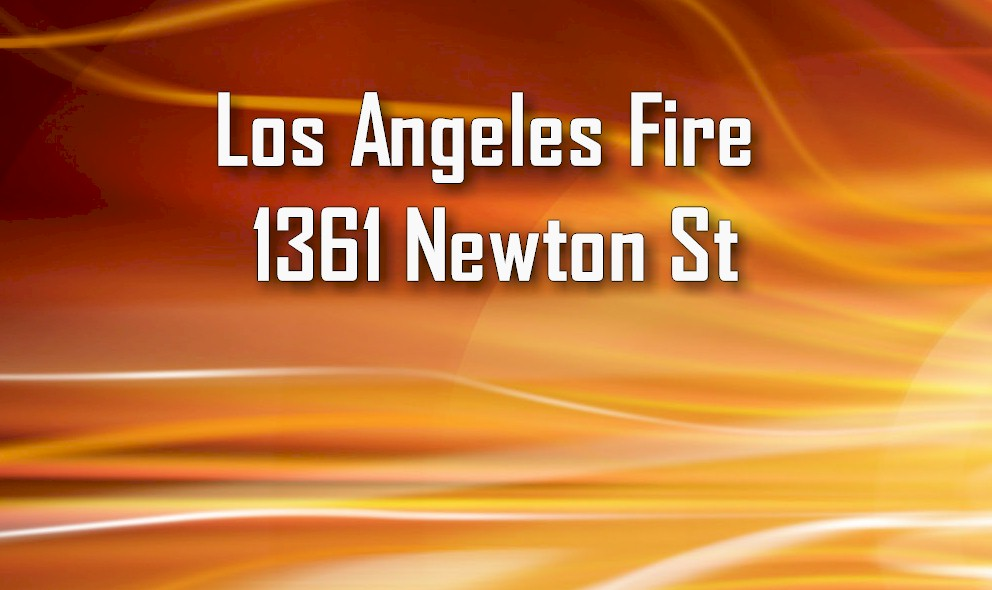 Los Angeles Fire 2016 Strikes Downtown LA's 1361 Newton St