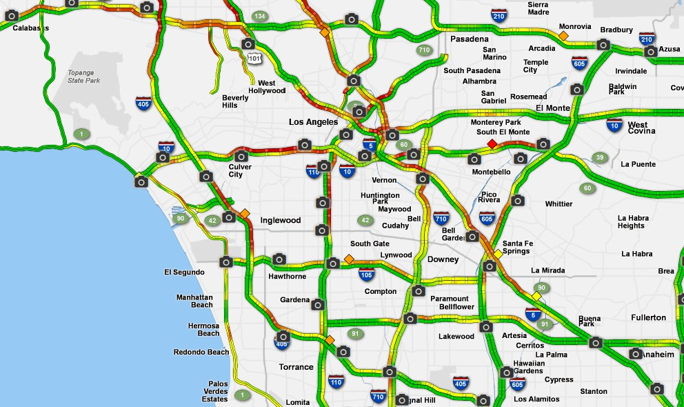 LA Traffic Today, Road Closures: Obama in LA February 12