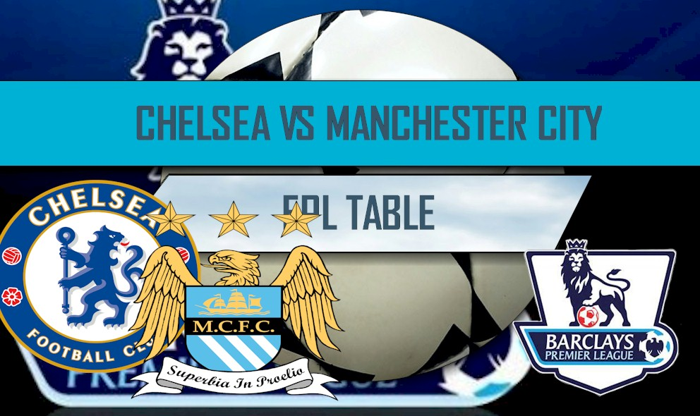 Chelsea vs Manchester City 2016 Score Updates EPL Table Results