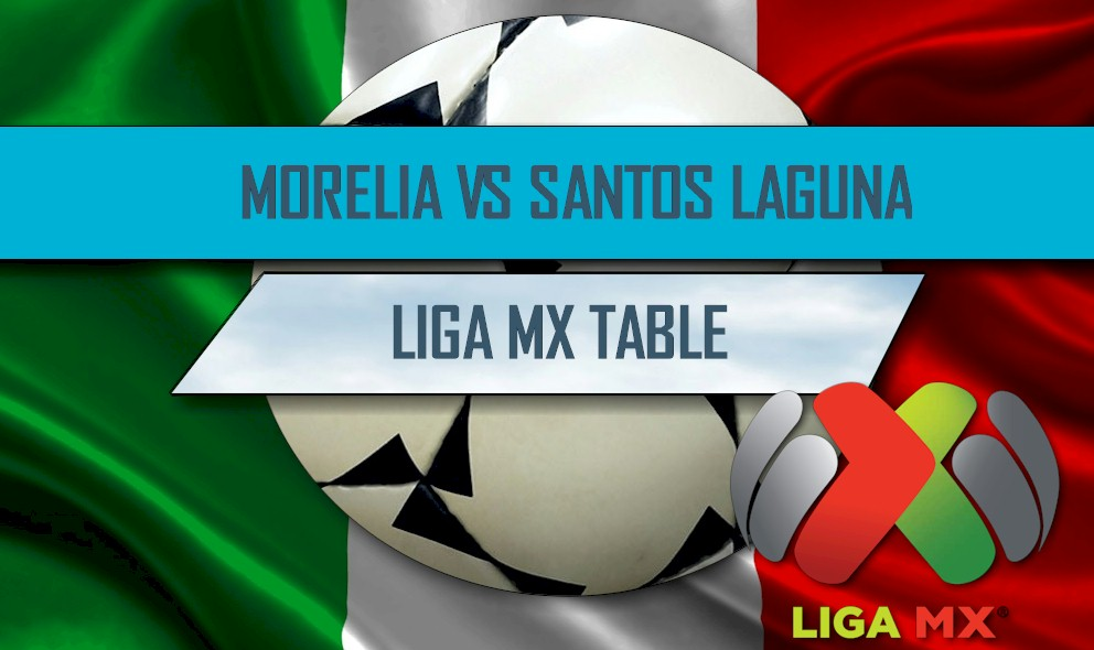 Morelia vs Santos Laguna 2016 Score En Vivo Delivers Liga MX Table