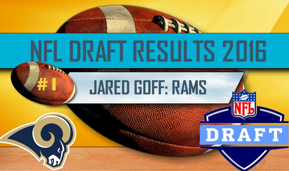 NFL Draft 2016 First Round Results: Jared Goff Rams, Carson Wentz Eagles