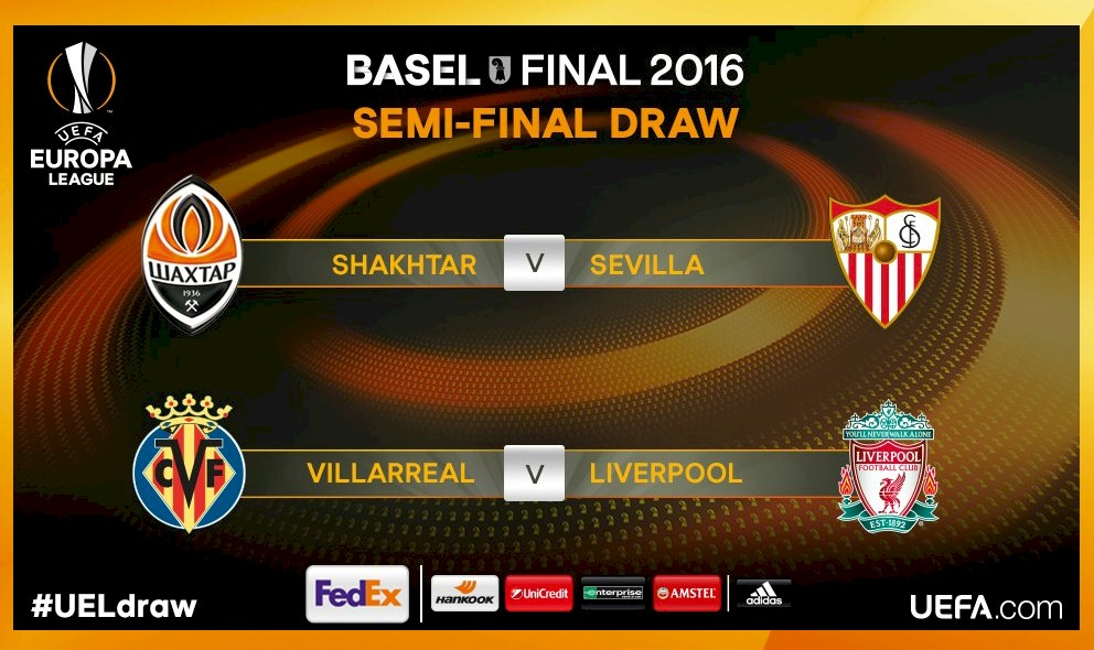 UEL Draw 2016 Results: UEFA Europa League Draw Semifinals April 15