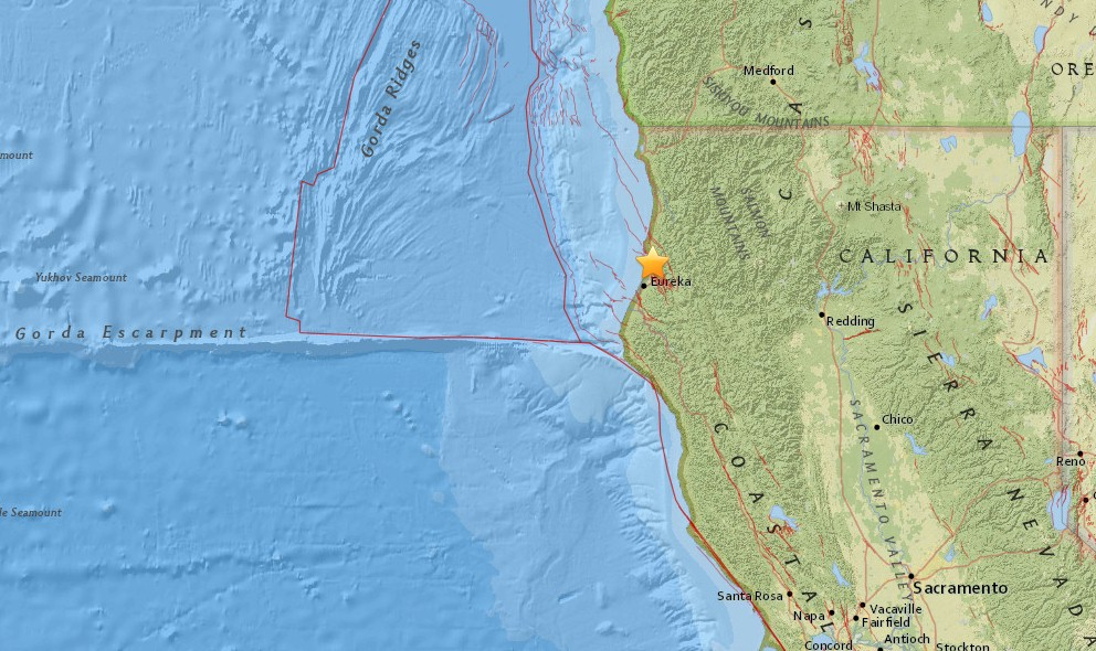 California Earthquake 2016 Today Strikes Eureka