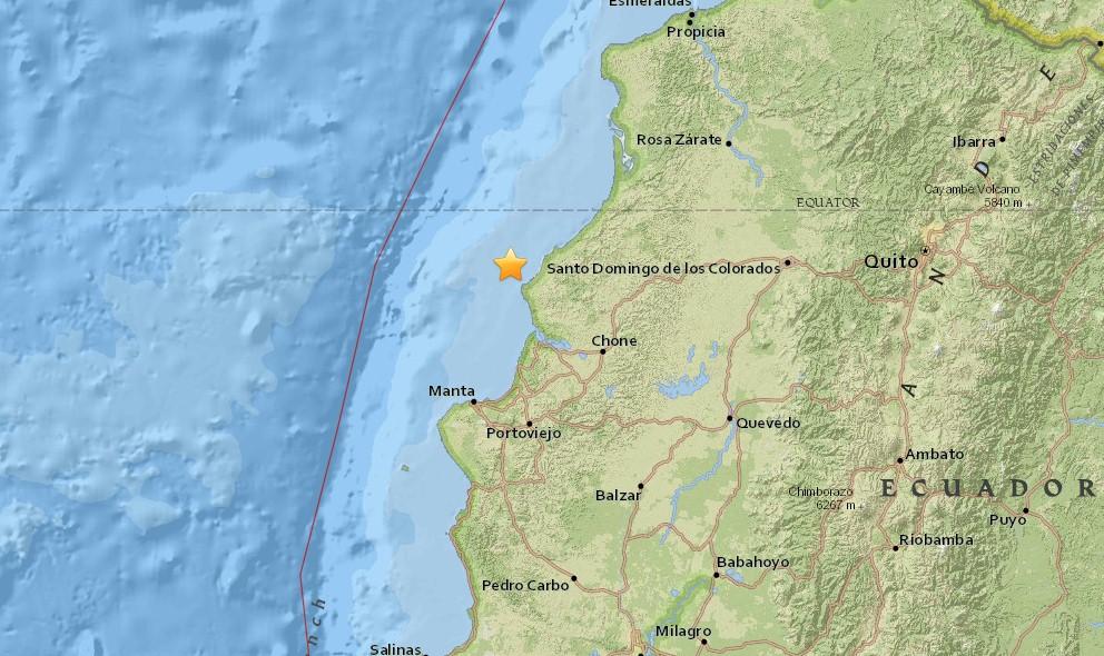 Ecuador Earthquake Today 2016: Ecuador Terremoto Near Chone