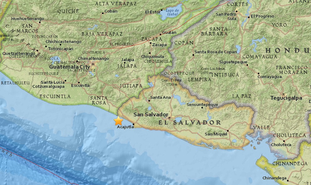 Earthquake Today 2016: Ring of Fire Earthquake, El Salvador Terremoto