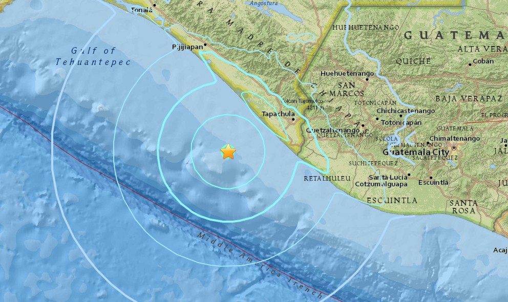 Mexico Earthquake Today 2016: 5.8 Terremoto en Mexico Near Guatemala