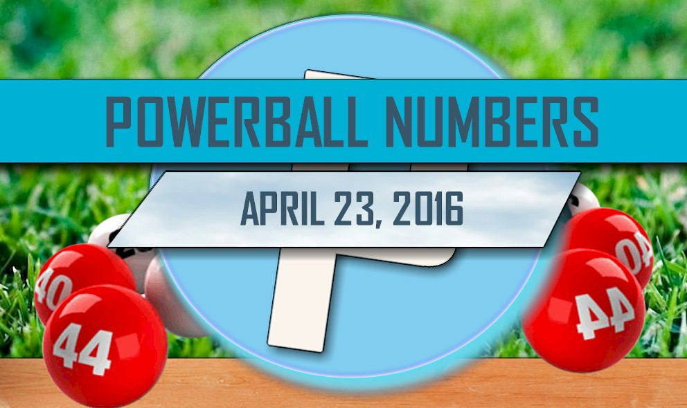 Powerball Winning Numbers April 23 Results Tonight Revealed 2016