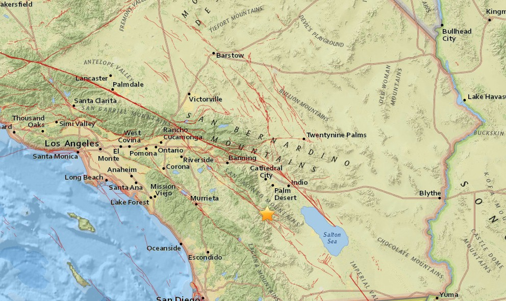 Southern California Earthquake Today 2016 Strikes N of San Diego