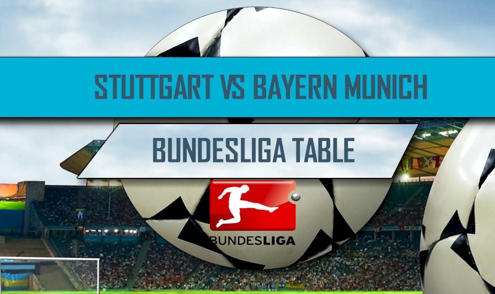Stuttgart vs Bayern Munich 2016 Score: Bundesliga Table Results