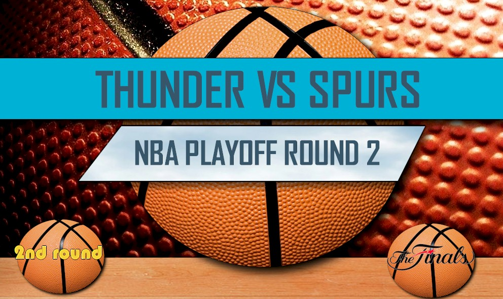 2016 NBA Playoff Bracket Printable Round 2: Thunder vs Spurs