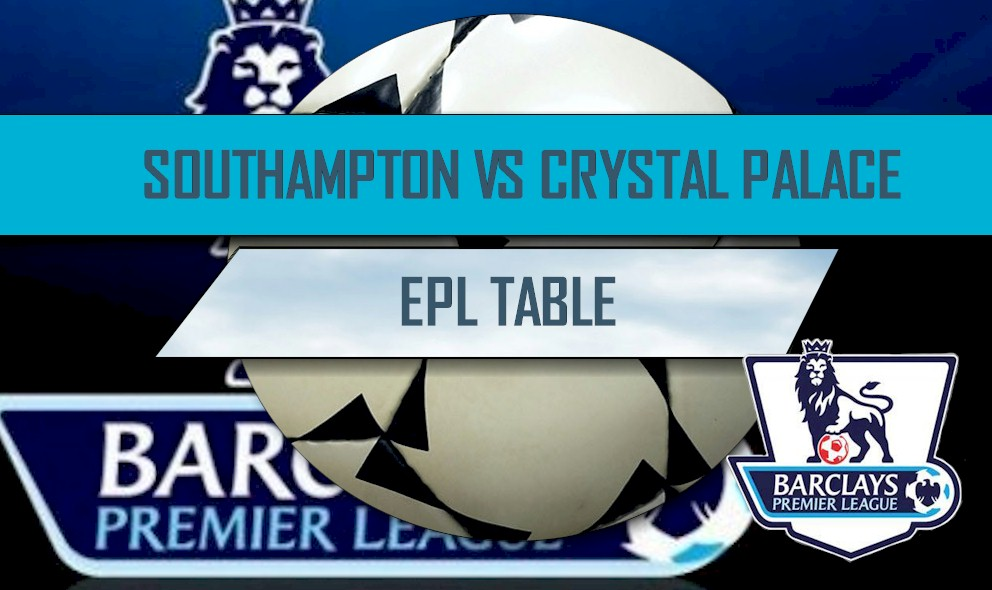 EPL Table 2016 Results Today: Southampton vs Crystal Palace Score