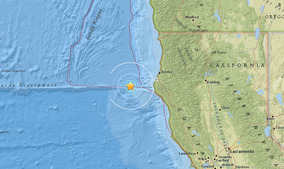 California Earthquake Today 2016 Strikes Near Fort Bragg