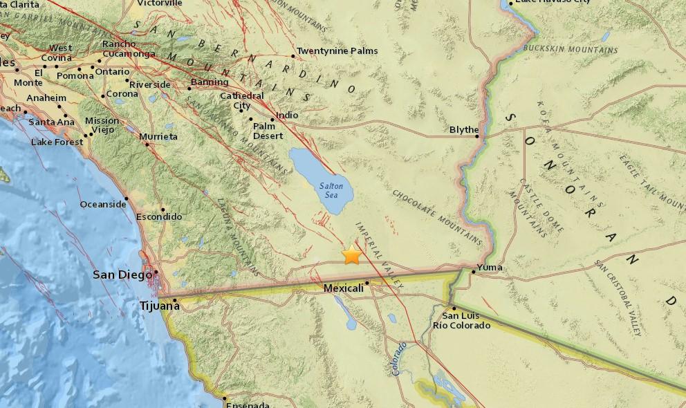 Southern California Earthquake Today 2016 Strikes Mexico Border