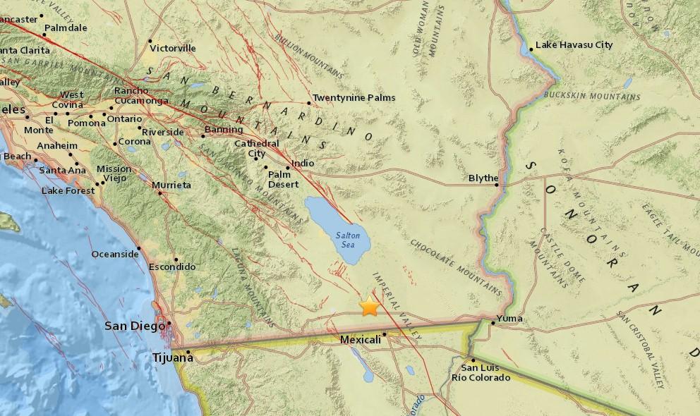 California Earthquake Today 2016 Strikes East of San Diego